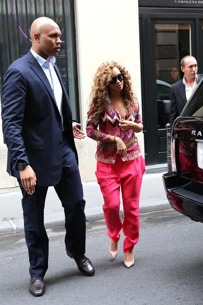 Beyoncé le 4 juin 2012 à Paris