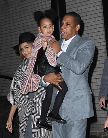 Beyoncé, Jay-Z et Blue Ivy à New-York le 7 décembre 2014