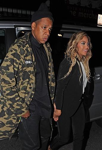 Jay-Z et Beyoncé à Londres le 5 mars 2014