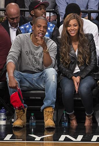Jay-Z et Beyoncé à New York le 2 mai 2014