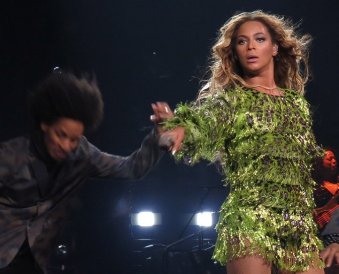 Beyoncé sur la scène du Staples Center de Los Angeles le 1er juillet 2013