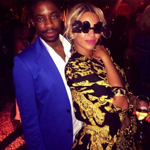 Beyoncé et un ami lors de la CIROC party de P. Diddy à Miami, le 31 décembre 2013.