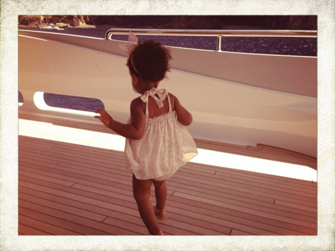 Blue Ivy sur le yacht de ses parents !