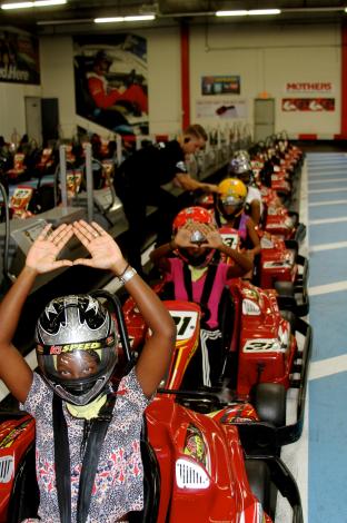 Photos : Beyoncé : session karting stylée en famille !