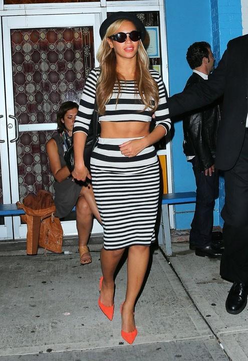 Beyoncé à la sortie de l'anniversaire de Kanye West à New-York le 8 juin 2013