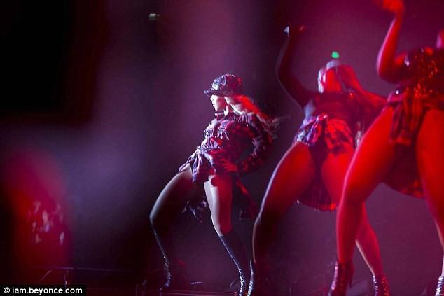 Beyoncé en concert à Londres, le 4 mars 2014.