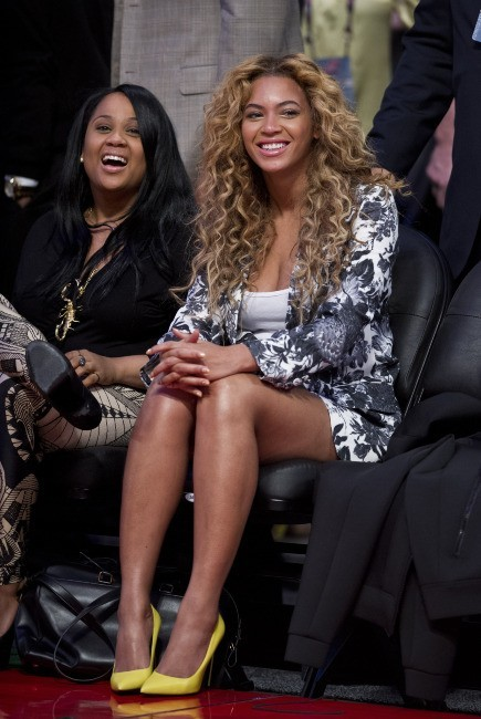 Beyoncé lors du NBA All-Star Game au Texas, le 17 février 2013.
