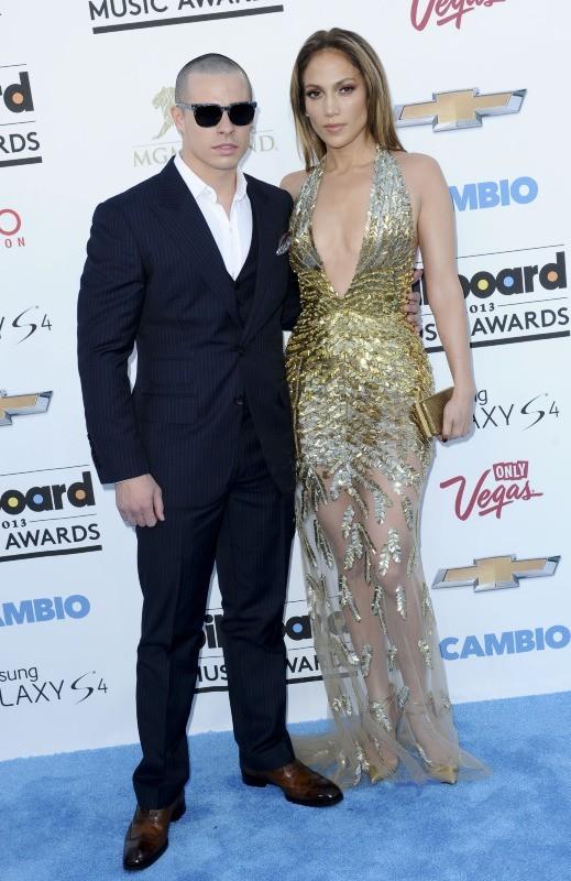 Jennifer Lopez et Casper Smart lors de la cérémonie des Billboard Music Awards à Las Vegas, le 19 mai 2013.
