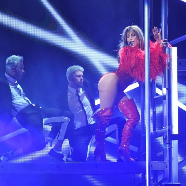 Jennifer Lopez sur la scène des Billboard Music Awards à Las Vegas, le 19 mai 2013.