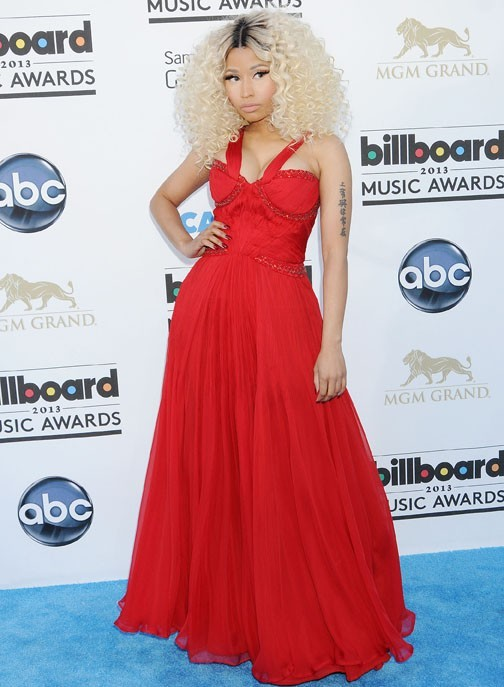Nicki Minaj sur le tapis rouge des Billboard Music Awards à Las Vegas le 19 mai 2013