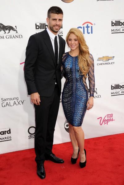 Gerard Piqué et Shakira lors de la soirée des Billboard Awards à Las Vegas, le 18 mai 2014.