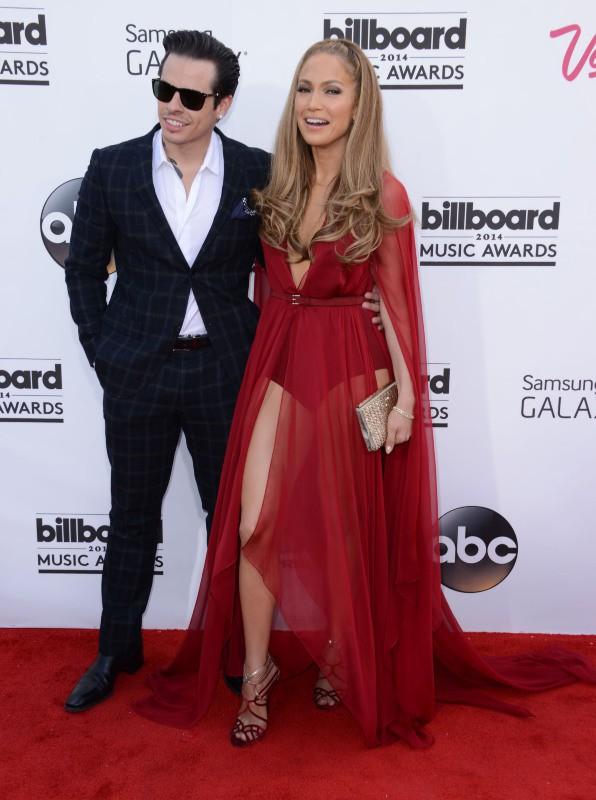 Casper Smart et Jennifer Lopez lors de la soirée des Billboard Music Awards à Las Vegas, le 18 mai 2014.
