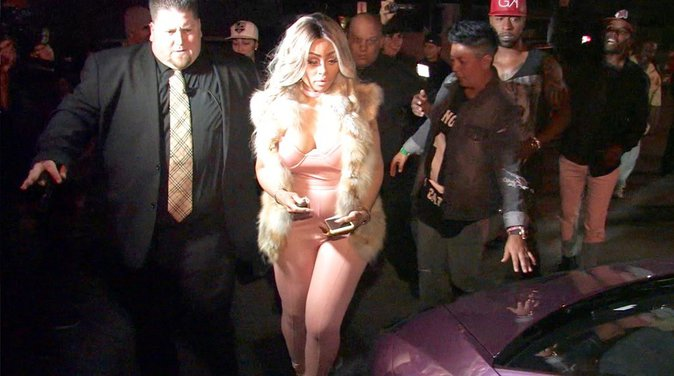 Blac Chyna dans un club à Los Angeles