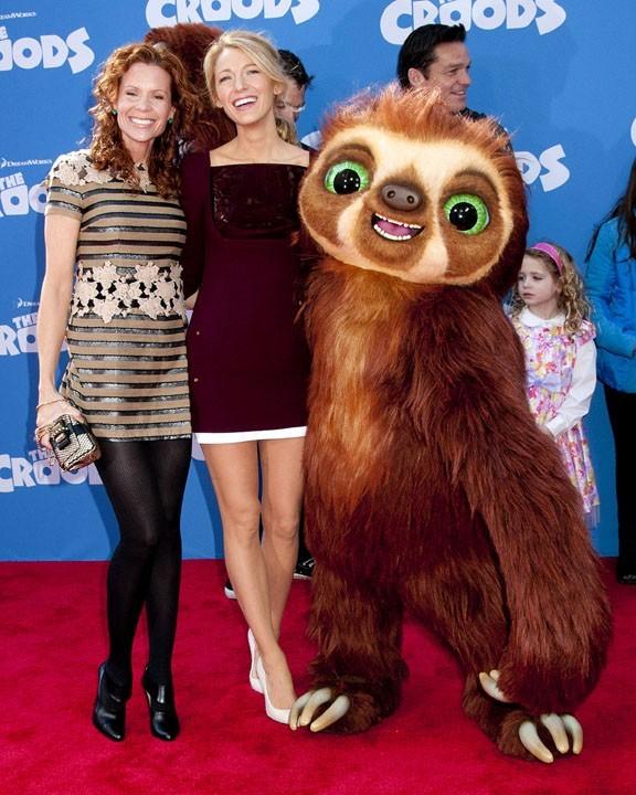 Blake Lively avec sa maman Robin à l'avant-première de The Croods à New-York le 10 mars 2013