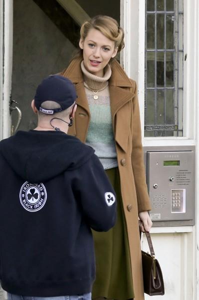 """Blake Lively sur le tournage de """"The Age of adaline"""" à Vancouver, le 17 mars 2014."""