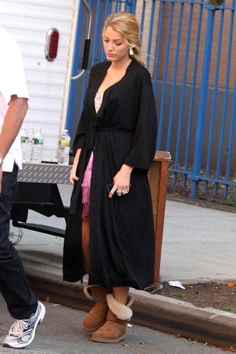 Blake Lively sur le tournage de Gossip Girl à New York, le 11 octobre 2011.