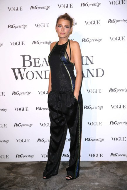 "Blake Lively lors de la soirée ""Beauty in Wonderland"" à Milan, le 19 septembre 2013."