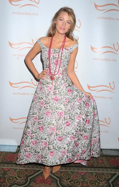 Blake Lively au gala de charité organisé par Michael J. Fox à New-York le 9 novembre 2013
