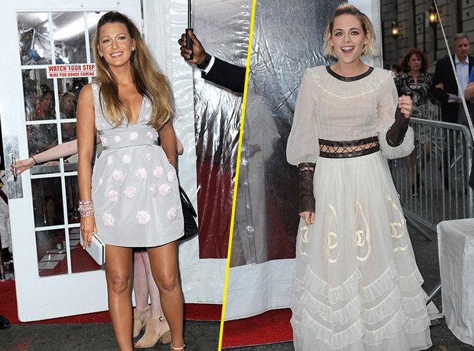 Blake Lively et Kristen Stewart combat de robes et duel de sourires � la premi�re de Caf� Society !
