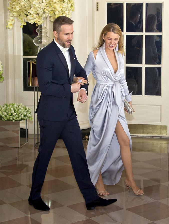 Photos : Blake Lively et Ryan Reynolds : classe présidentielle à la Maison Blanche !