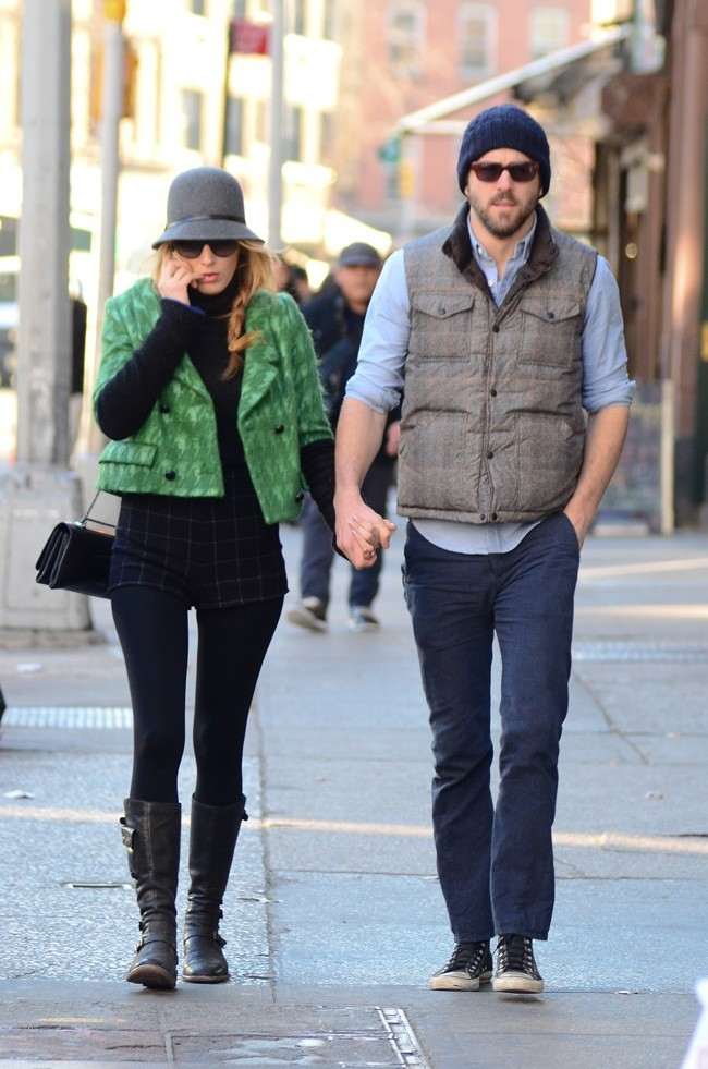 Blake Lively et Ryan Reynolds à New-York le 7 janvier 2013