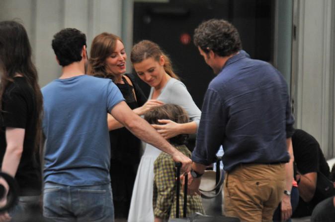 Blake Lively en tournage à Barcelone le 27 juillet 2015