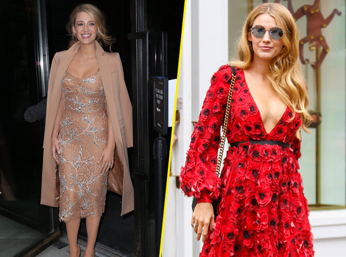Blake Lively : robe moul�e et d�collet�, elle met le paquet � New York !