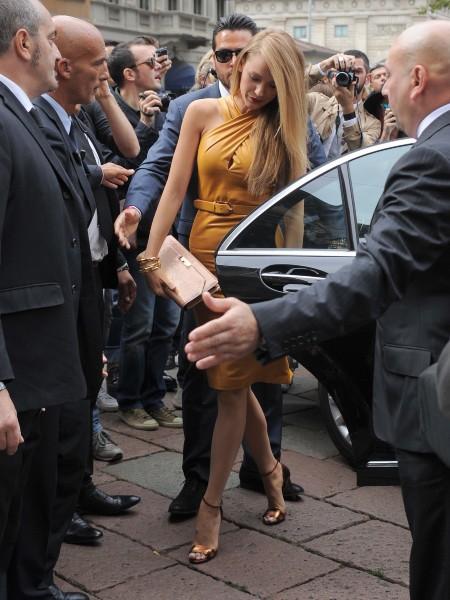 Blake Lively lors du défilé Gucci à Milan, le 18 septembre 2013.