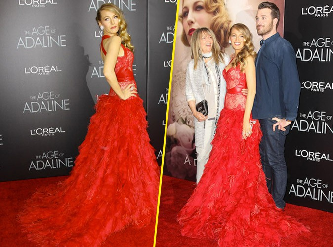 Blake Lively, avec sa mère et son frère à la première de Adeline à New York, le 20 avril 2015 !