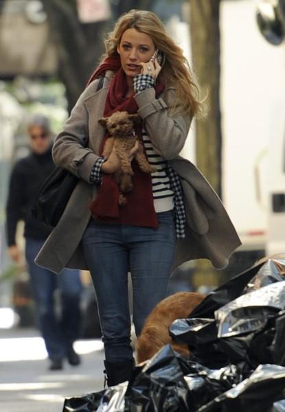 Blake Lively sur le tournage de Gossip Girl à New York, le 11 octobre 2012.