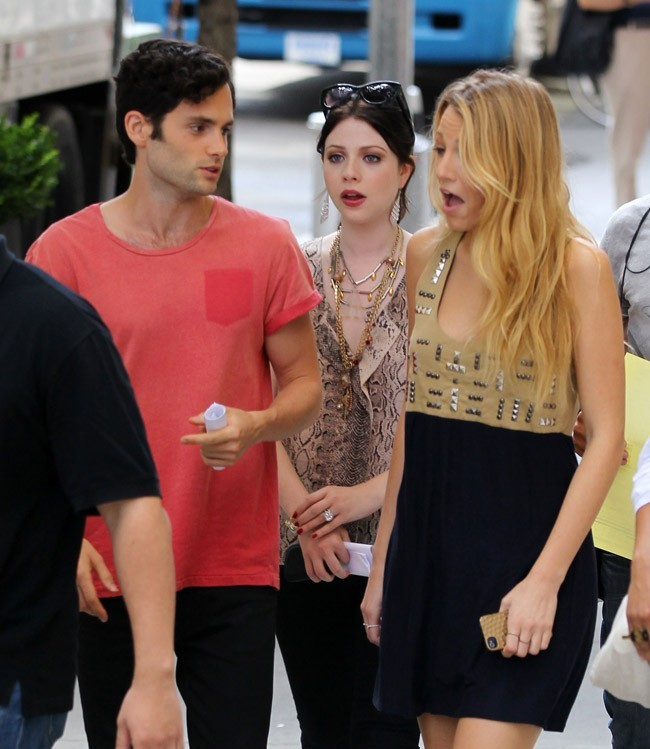Blake Lively et Penn Badgley le 11 août 2012 à New York