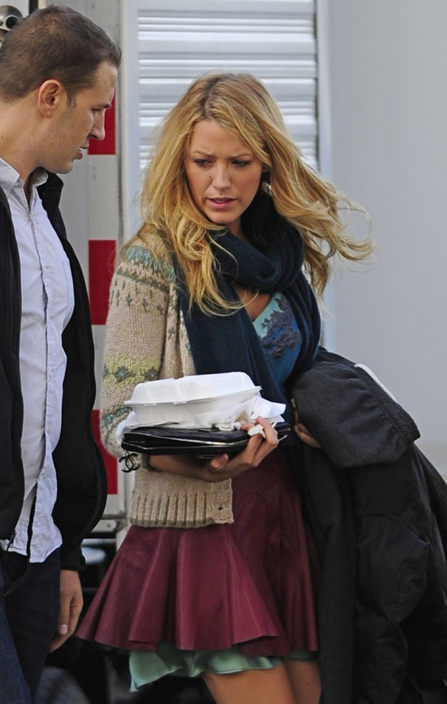 Blake Lively sur le tournage de Gossip Girlà New-York le 20 septembre 2012