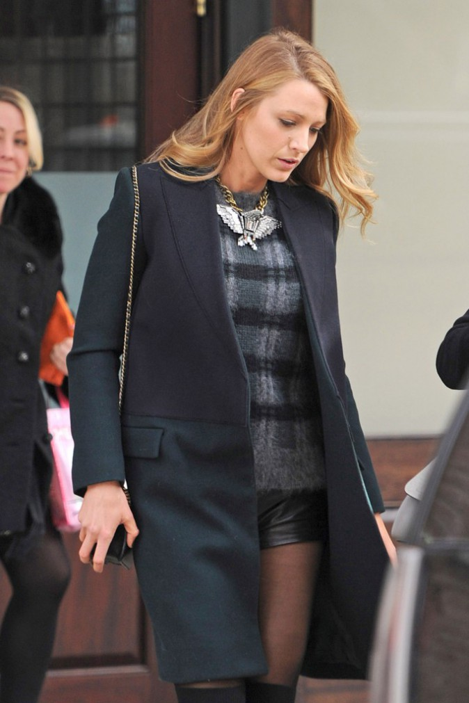 Blake Lively à New York, le 12 février 2014.