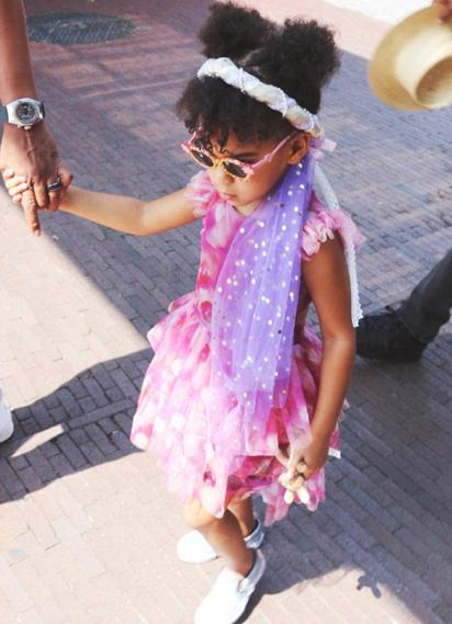 Blue Ivy à New York avec ses parents Beyoncé et Jay-Z