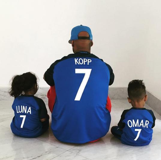 Photos : Booba : complices avec ses deux enfants, il adresse un message aux Bleus