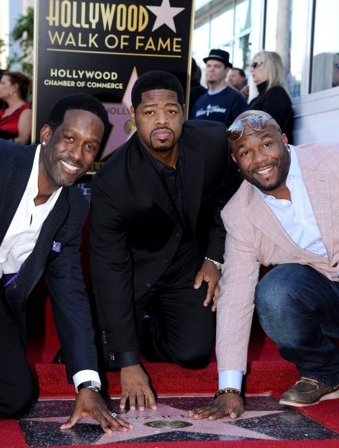 Les Boyz II Men inaugurent leur étoile sur le Walk of Fame, le 5 janvier 2012.