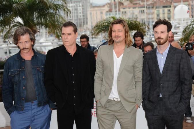 "Brad Pitt lors du photocall du film ""Killing Them Softly"" à Cannes, le 22 mai 2012."