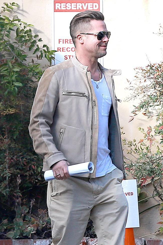 Brad Pitt à Pasadena le 8 février 2014