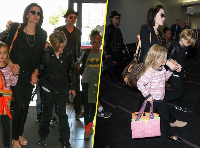 Photos : Brad Pitt et Angelina Jolie : direction la France avec leurs six enfants !