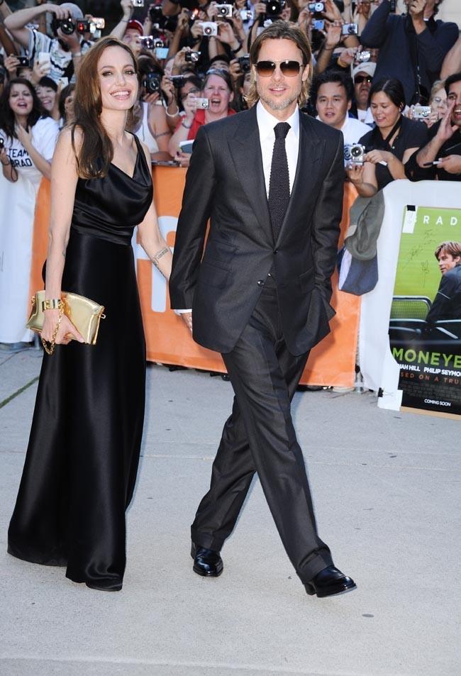 Brad Pitt venait présenter son dernier film, Moneyball...