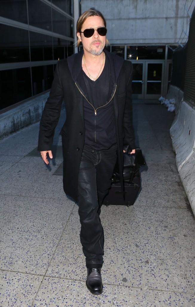 Brad Pitt de retour à Los Angeles