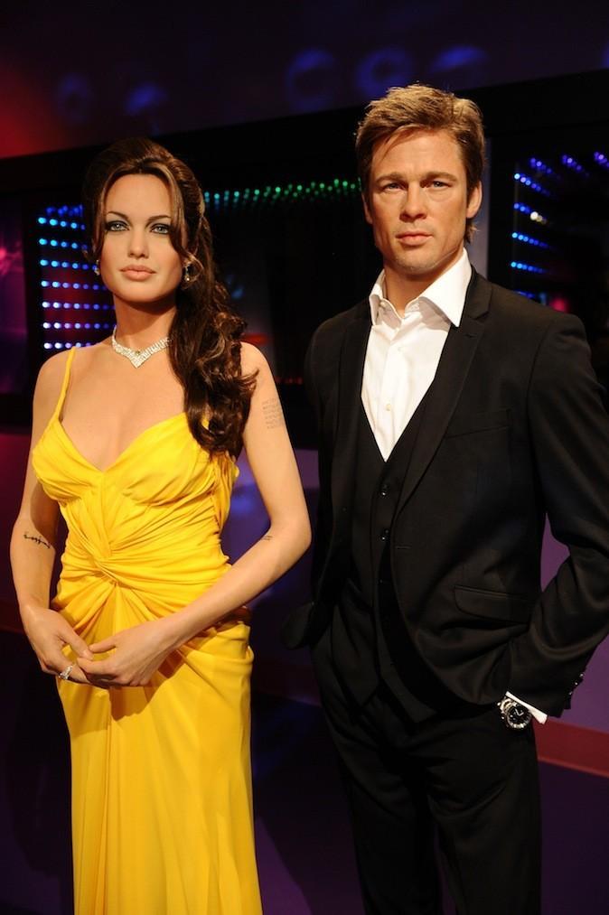Sa statue de cire ainsi que celle d'Angelina Jolie