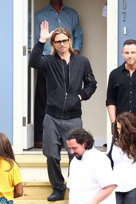 Brad Pitt à la Nouvelle-Orléans, le 9 mars 2012.