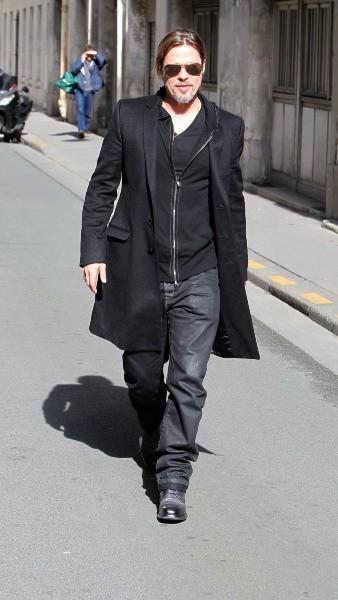 Brad Pitt le 8 mars 2013 à Paris