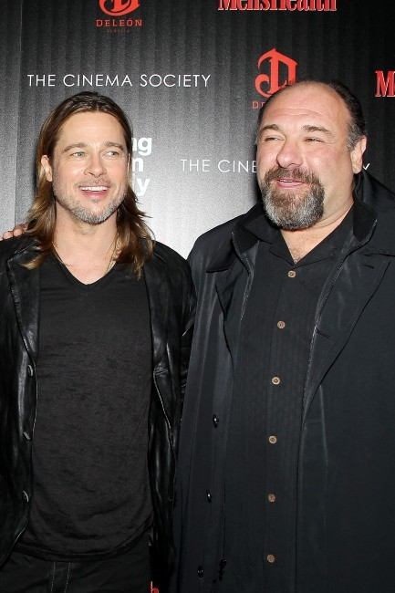 Brad Pitt et James Gandolfini le 26 novembre 2012 à New York