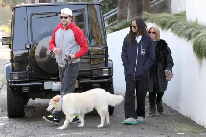 Bradley Cooper et Zoe Saldana à Los Angeles le 25 novembre 2012