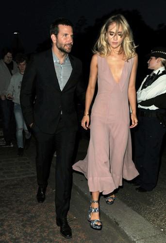 Bradley Cooper et Suki Waterhouse à Londres le 1er juillet 2014