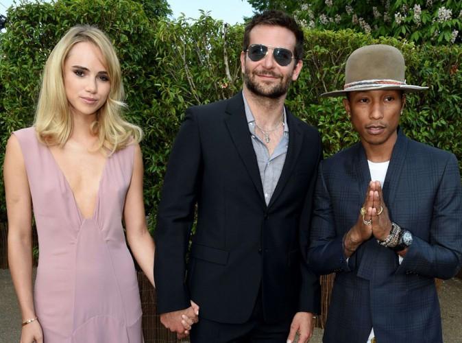 Bradley Cooper, Suki Waterhouse et Pharrell Williams à Londres le 1er juillet 2014