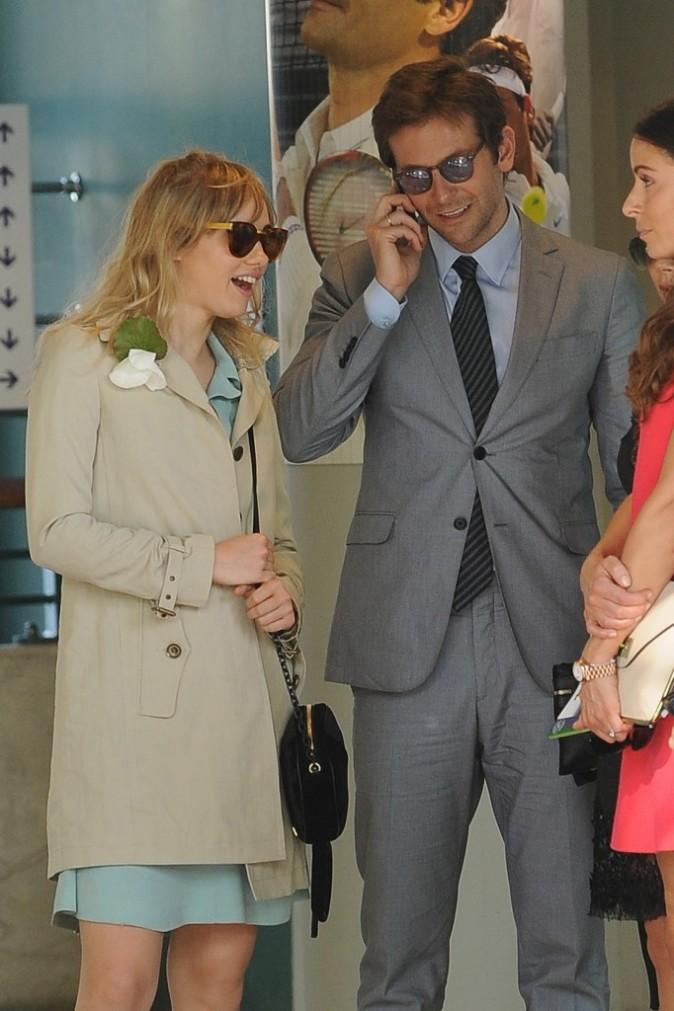 Bradley Cooper et Suki Waterhouse à Wimbledon, le 7 juillet 2013.