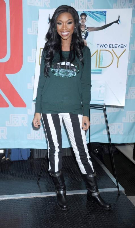 Brandy en promo à New York, le 17 octobre 2012.
